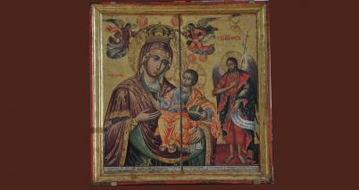 Пресвета Богородица со Св. Јован Крстител во став на поконување
