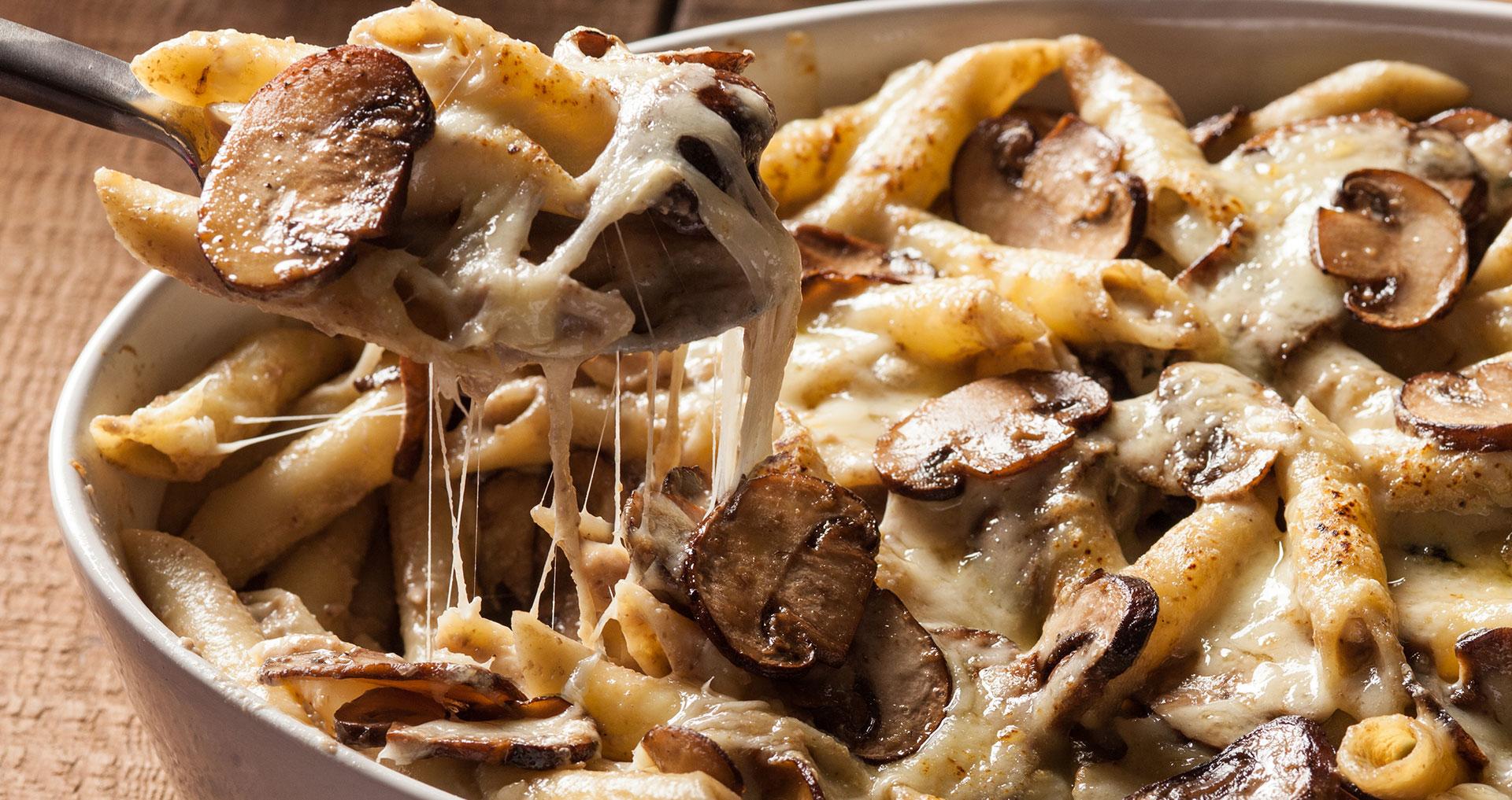 Макарони со печурки